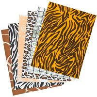 Brown Zebra Print as sheets peeking out
